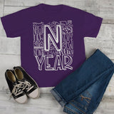 Kids New Year's Shirt Typography Shirts New Years Tee Happy New Year T Shirt Toddler Boy's Girl's-Shirts By Sarah