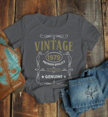 6684acc5b Women's Vintage 1979 40th Birthday T-Shirt Classic Forty Shirt Gift Idea 40th  Birthday Shirts