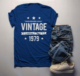Men's 40th Birthday T Shirt Original Vintage Shirt Awesome Since 1979 Gift Idea 40th Birthday Shirts Vintage Tee Vintage Shirt-Shirts By Sarah