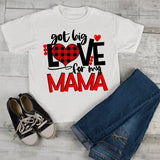 Kids Valentine's Day T Shirt Got Love For Mama Shirt Plaid Heart Tee Valentines Day Shirts-Shirts By Sarah