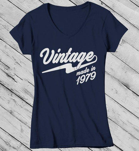 eed253a51 Women's Vintage T Shirt 1979 Birthday Made In Shirt 40th Birthday Tee Retro  Gift Idea Vintage