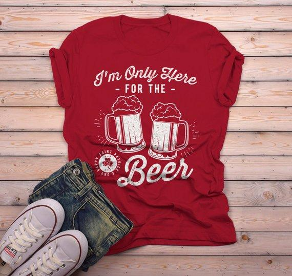Mens This is my Drinking T Shirt Funny Party Saint Patricks Day St Patty Tee