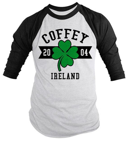 Personalized Irish Family Shirts St. Patrick's Day 3/4 Sleeve Customizable Raglan Tee Shirt-Shirts By Sarah