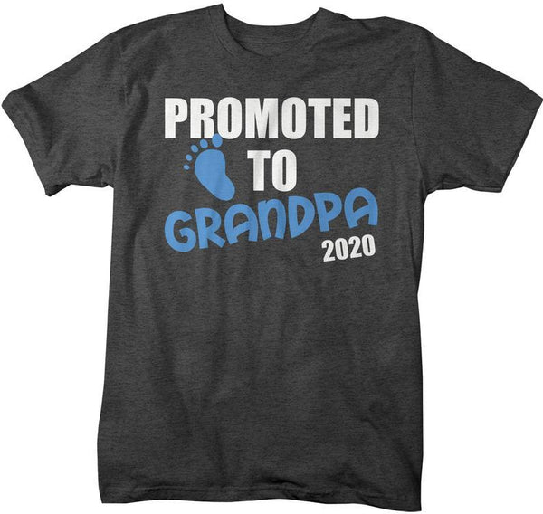 Men's Grandpa T-Shirt Promoted To Grandpa 2020 Shirt Promotion New Baby Reveal Gift Idea Shirts-Shirts By Sarah