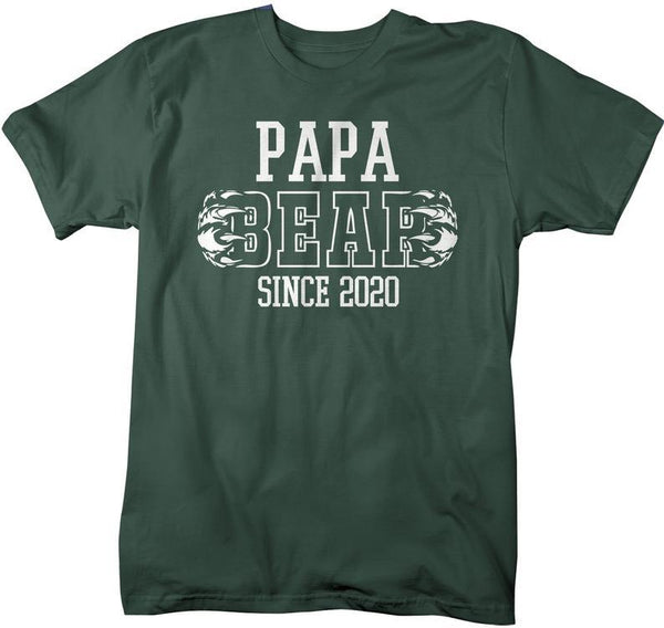 Men's Papa Bear T-Shirt My Since 2020 Grandpa TShirt Father's Day Gift Idea Tee Athletic Shirts-Shirts By Sarah