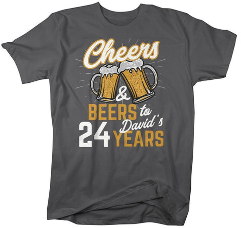 Mens Personalized Birthday T Shirt Cheers Beers To Years TShirt Gift Idea Graphic Tee Beer Shirts