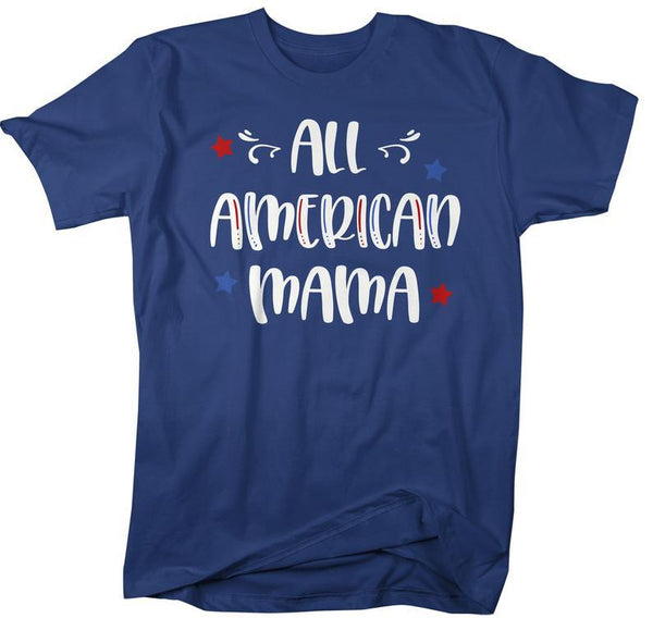 Men's All American Mama T-Shirt Mom Shirt Patriotic Shirts 4th July Independence Day Shirts America Shirt-Shirts By Sarah