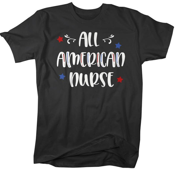 Men's All American Nurse T-Shirt Nurse Shirt Patriotic Shirts 4th July Independence Day Shirts America Shirt-Shirts By Sarah
