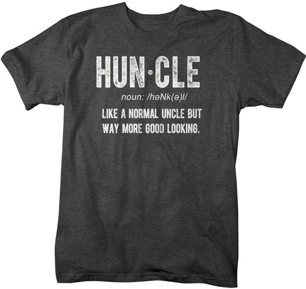 Men's Funny Uncle T-Shirt Huncle Shirt Gift Ideas Uncles Fun Saying Tee Father's Day Birthday Uncle Definition Shirts-Shirts By Sarah