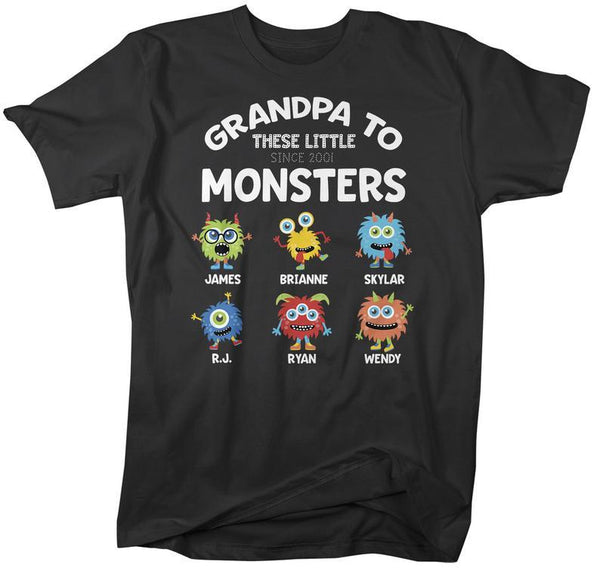 Personalized Grandpa T-Shirt Grandpa To Little Monsters Cute Custom Grandpa Gift Idea Father's Day Gifts-Shirts By Sarah