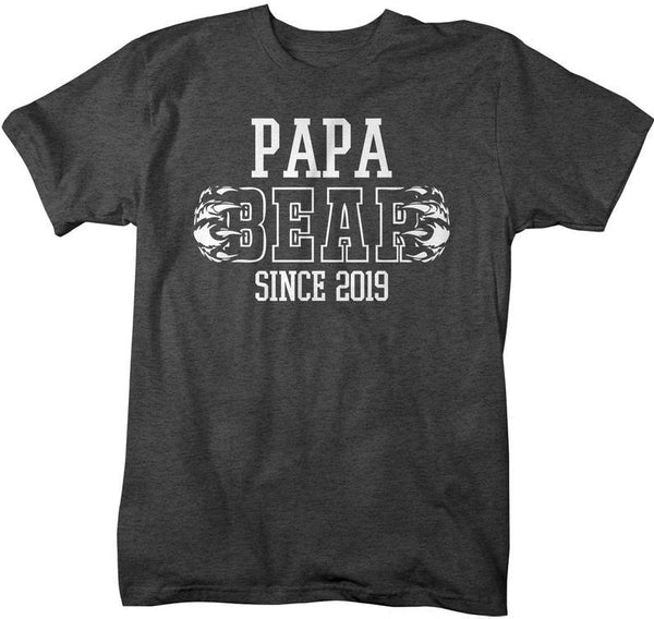 Men's Papa Bear T-Shirt My Since 2019 Grandpa TShirt Father's Day Gift Idea Tee Athletic Shirts-Shirts By Sarah