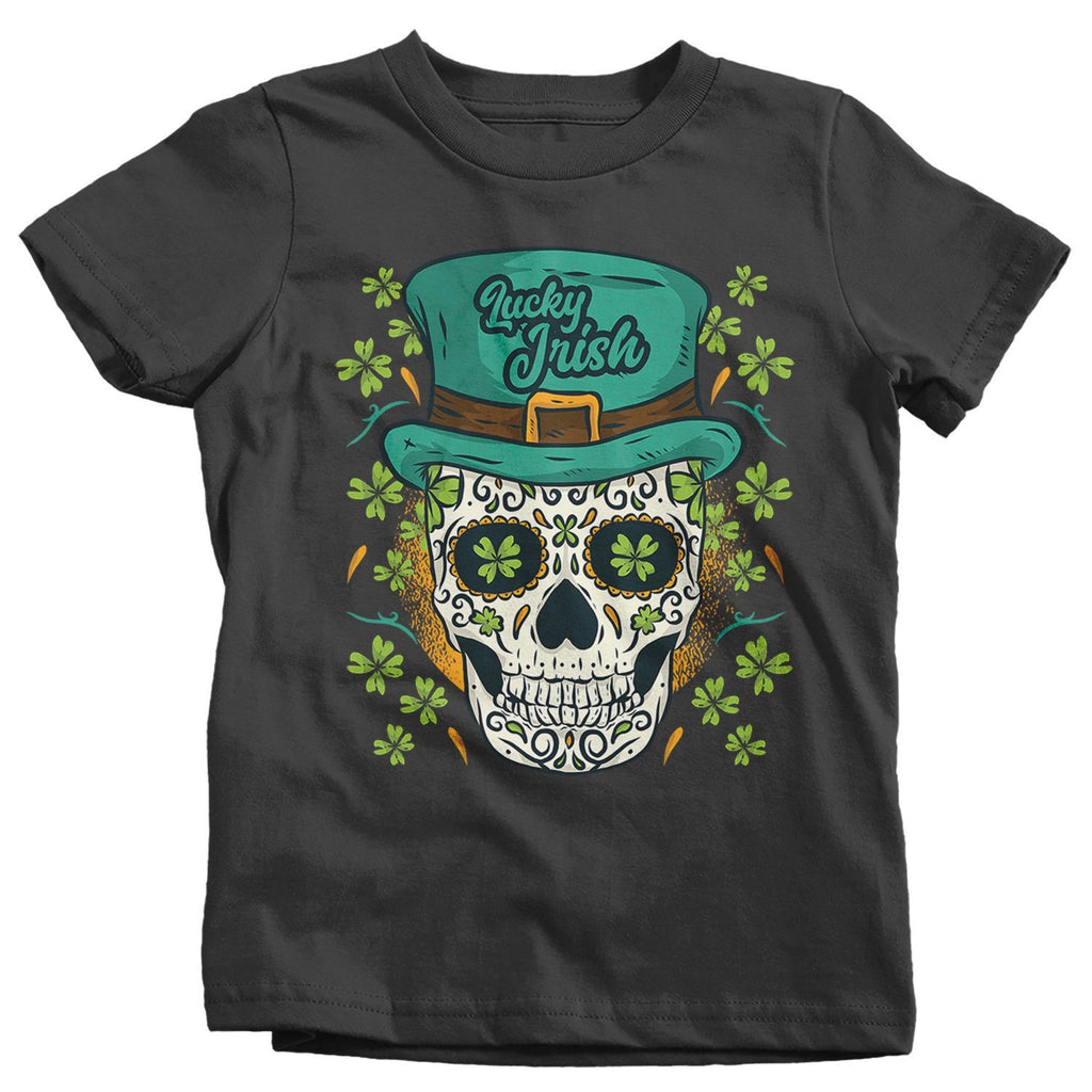 7be04cef9a9 Kids Sugar Skull T-Shirt St. Patrick s Day Shirts Graphic Tee Skulls Tshirt  Lucky