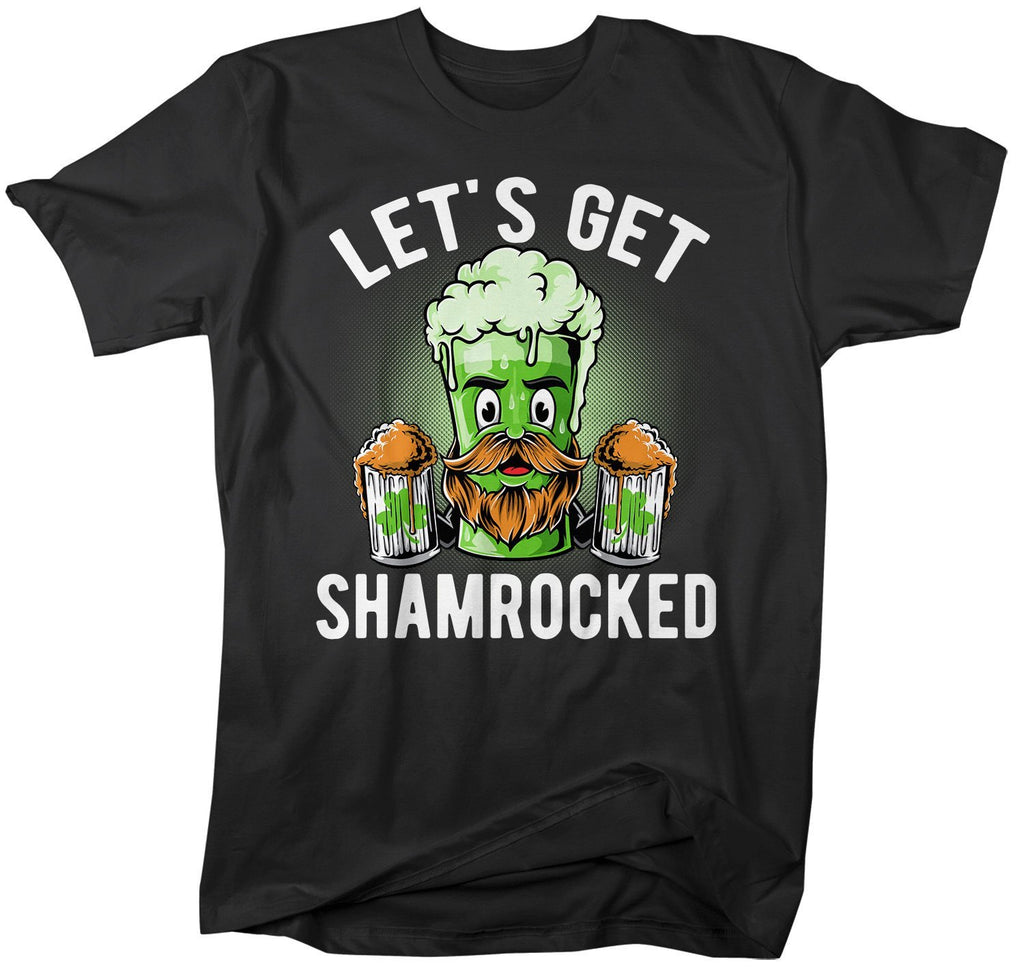 f213410bf Men's Funny Beer T-Shirt Shamrocked St. Patrick's Day Shirts Graphic Tee Let's  Get