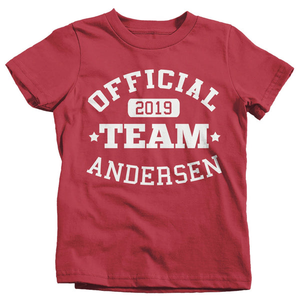 Kids Personalized Adoption T Shirt Matching Custom Family Shirts Adopt Adopting Tee Official Team TShirt Toddler-Shirts By Sarah