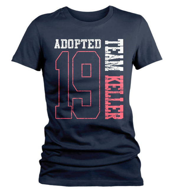 Women's Personalized Adopted T Shirt Matching Custom Matching Family Shirts Adoption Adopting Tee Athletic Team TShirt-Shirts By Sarah