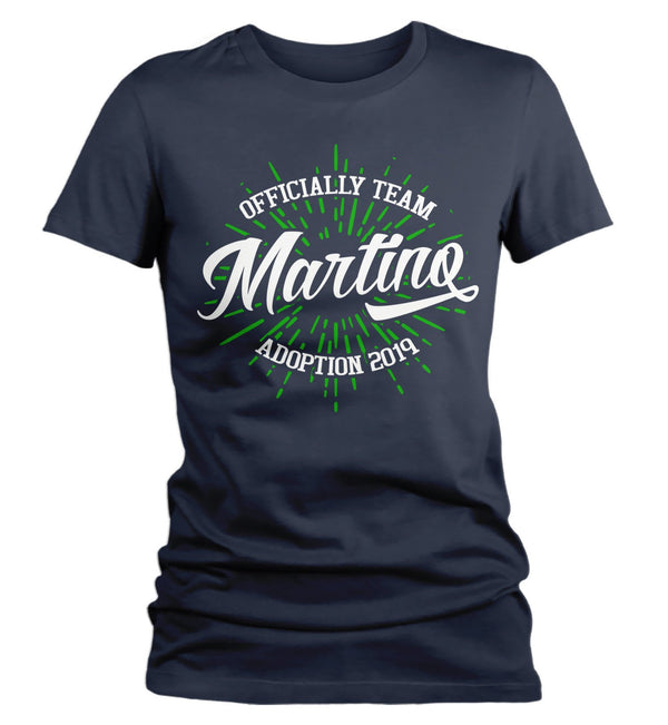 Women's Personalized Adoption T Shirt Matching Custom Matching Family Team Shirts Adopt Adopting Tee Officially-Shirts By Sarah