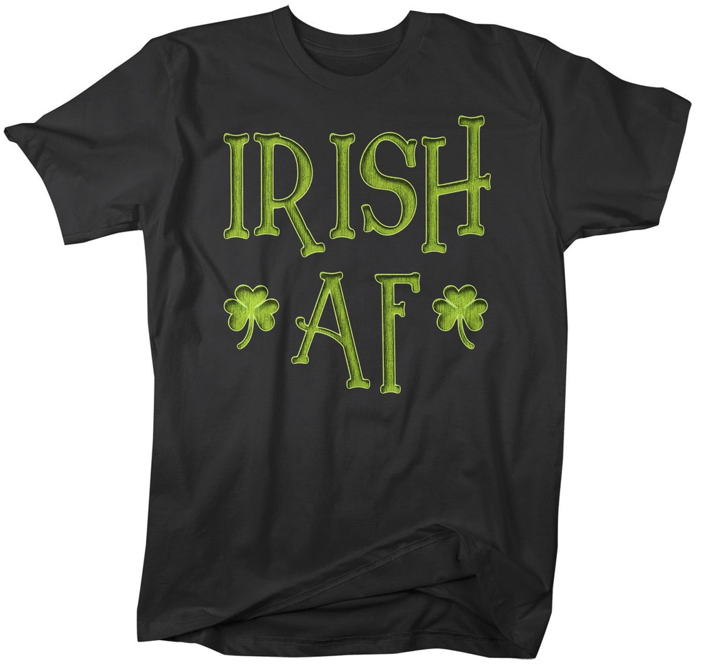 7bca12632 Men's Funny Irish AF T-Shirt St. Patrick's Day Shirts Graphic Tee Tshirt  Hipster