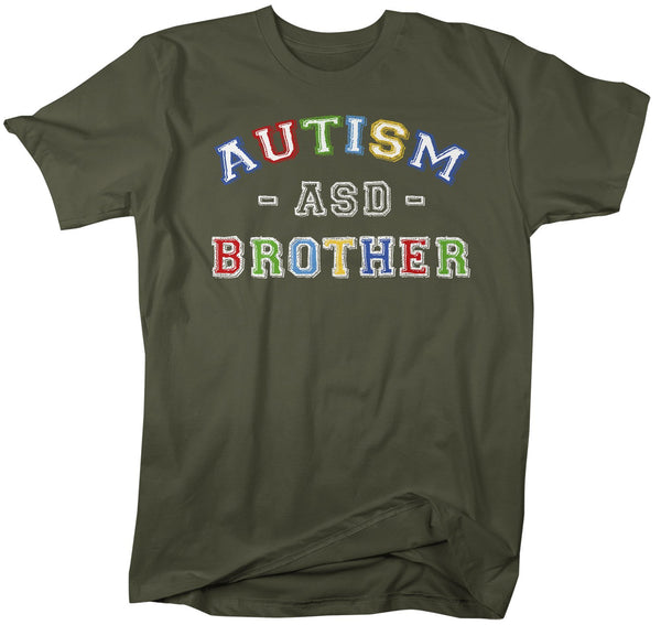 Men's Autism Brother Shirt ASD Autism Spectrum Shirts Awareness Tee Brothers Bro Support Tee-Shirts By Sarah
