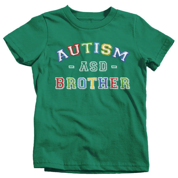 Girl's Autism Brother Shirt ASD Autism Spectrum Shirts Awareness Tee Brothers Bro Support Tee-Shirts By Sarah
