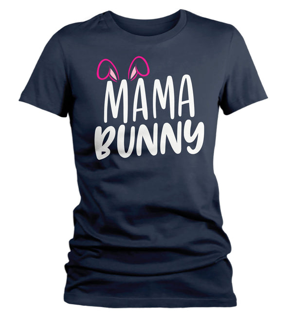 Women's Easter Shirt Mama Bunny T-Shirts Cute Mom Bunny Ears Easter TShirt Easter Tee Mother Shirt-Shirts By Sarah