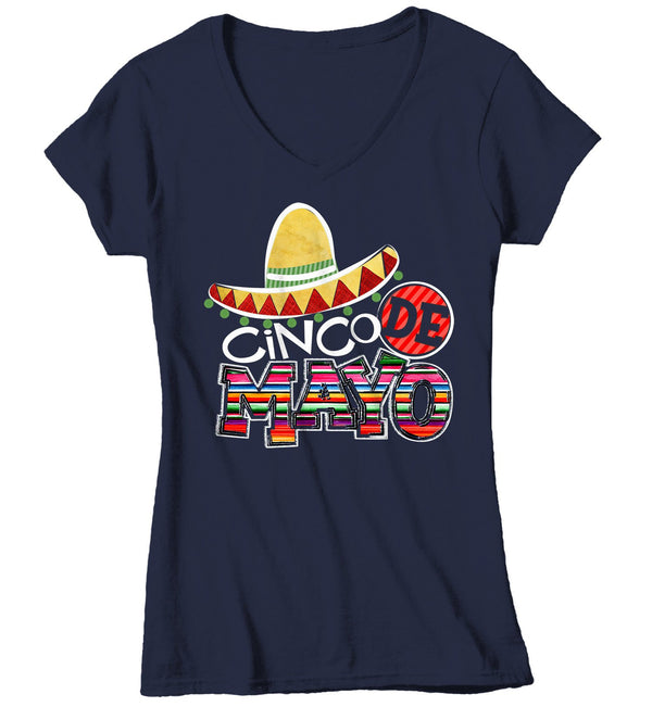 Women's Cinco De Mayo T Shirt Mexico Shirts Mexican Sombrero Graphic Tee Mexican Pride Tshirt-Shirts By Sarah