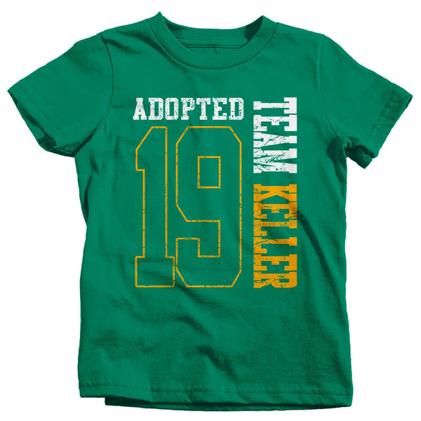 Kids Personalized Adopted T Shirt Matching Custom Matching Family Shirts Adoption Adopting Tee Athletic Team TShirt Toddler-Shirts By Sarah
