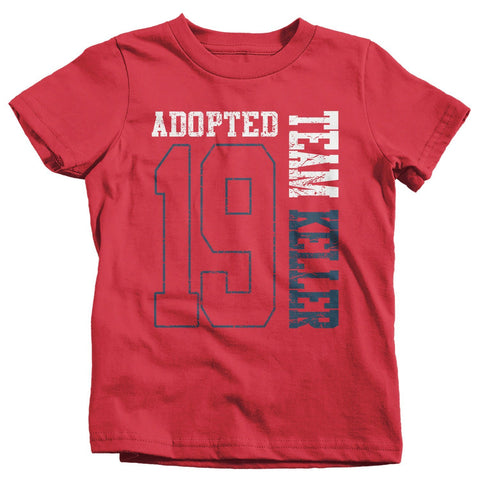 5ad70a40 Kids Personalized Adopted T Shirt Matching Custom Matching Family Shirts  Adoption Adopting Tee Athletic Team TShirt