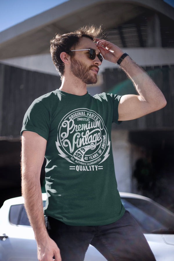 Men's Premium Vintage T Shirt 1979 Birthday Made In Shirt 40th Birthday Tee 40 Years Awesome Gift Idea Vintage Tee-Shirts By Sarah