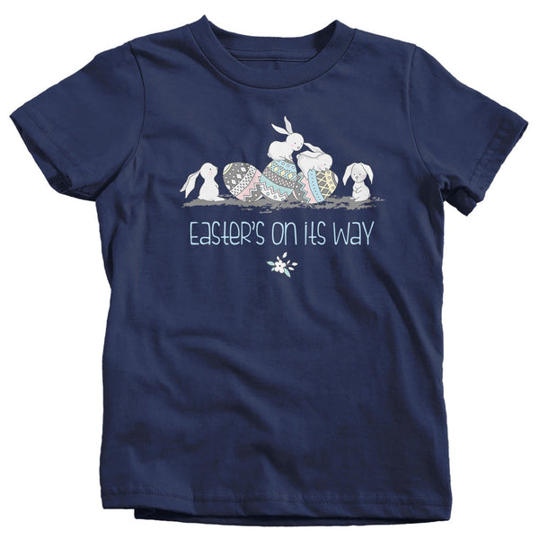 Kids Easter Shirt Easter Bunny T-Shirts Hipster Cute Bunnies Easter's On Its Way TShirt Easter Tee Shirt Toddler Baby-Shirts By Sarah