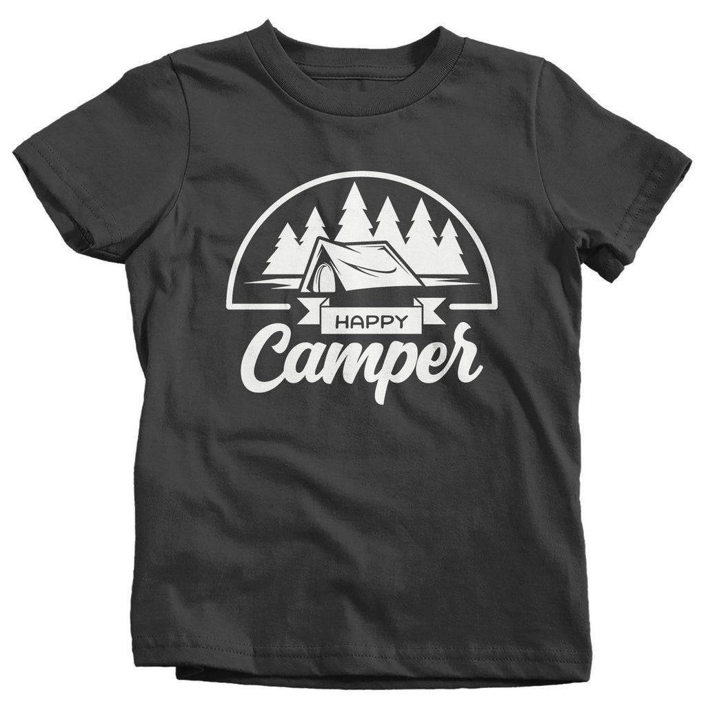 f5c5a398708e8 Kids Happy Camper T-Shirt Camping Shirt Tent Shirts Camp T-Shirt Toddler  Camper