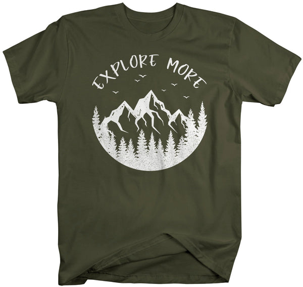 Men's Explore More T Shirt Camping Shirts Mountains Shirt Forest Tee Exploration Shirts Hipster Shirts-Shirts By Sarah