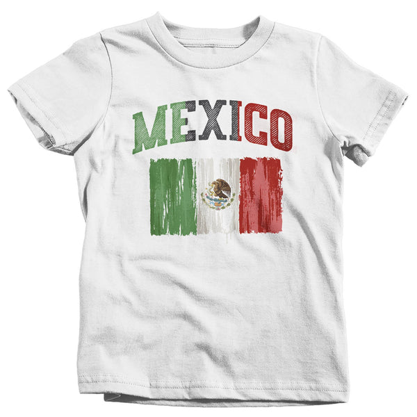 Kids Mexico T Shirt Cinco De Mayo Shirts Mexican Flag Grunge Graphic Tee Mexican Pride Tshirt-Shirts By Sarah