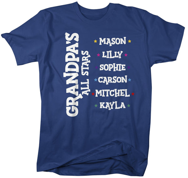 Personalized Grandpa T-Shirt Grandpa's All Stars Shirts Names Grandchildren Papa Gift Idea-Shirts By Sarah