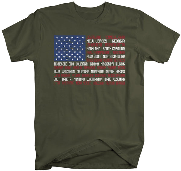 Men's American Flag T-Shirt Flag Patriotic Shirts 4th July T-Shirt States Shirt Flag-Shirts By Sarah