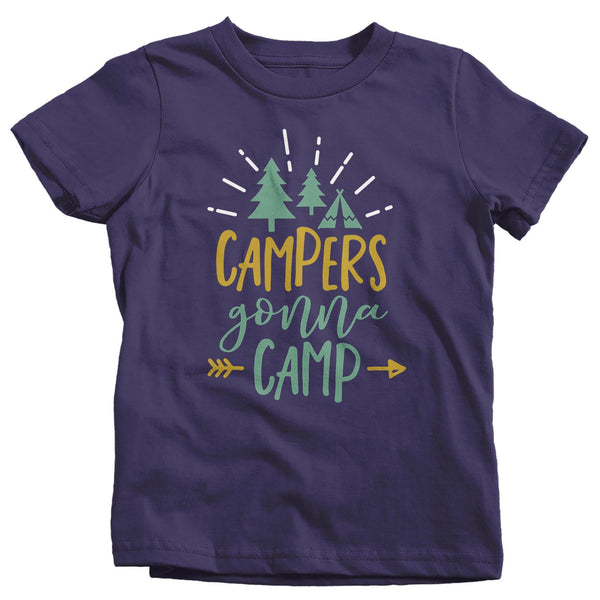 Kids Funny Campers T Shirt Campers Gonna Camp Shirt Camping Tshirt Forest Tent Shirts-Shirts By Sarah
