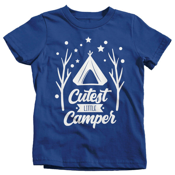 Kids Cutest Camper T Shirt Adorable Kids Camping Shirts Toddler Infant Youth Cutest Little Camper Tee-Shirts By Sarah