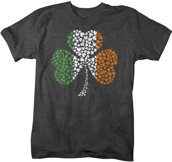 Men's Clover T Shirt Irish Flag Shirt St Patrick's Day Flag Shirt St Patty's Day Ireland Flag Shirt St Pat Clover Tshirt-Shirts By Sarah
