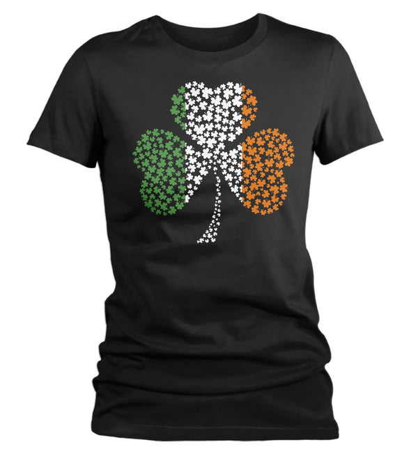 Women's Clover T Shirt Irish Flag Shirt St Patrick's Day Flag Shirt St Patty's Day Ireland Flag Shirt St Pat Clover Tshirt-Shirts By Sarah