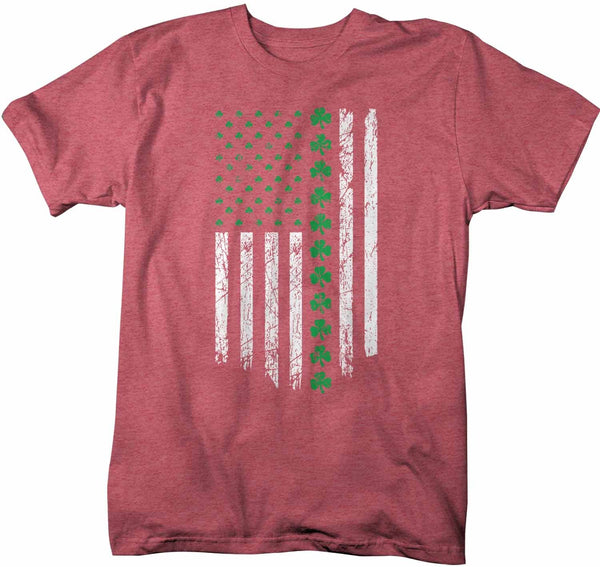 Men's Ireland T Shirt U.S. Flag Shirt St Patrick's Day Flag Shirt St Patty's Day American Flag Shirt St Pat Clover Tshirt-Shirts By Sarah
