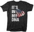 Men's In My DNA T Shirt American Flag Shirt USA Patriotic TShirt 4th July Tee Heart Fingerprint Unisex Men Gift Idea-Shirts By Sarah