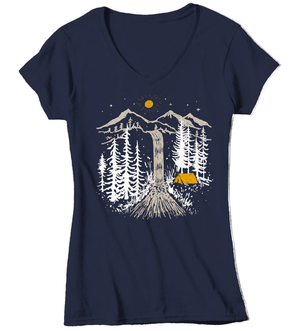 Women's Waterfall T Shirt Hipster Shirt Hiking Shirts Camping Shirts Hipster Camping Shirt Jungle T Shirts-Shirts By Sarah