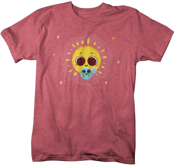 Men's Cute Earth T Shirt Earth Day Shirts Sun Earth Shirt Celestial T Shirt Hipster Shirts Hipster Space Shirt Earth T Shirt-Shirts By Sarah