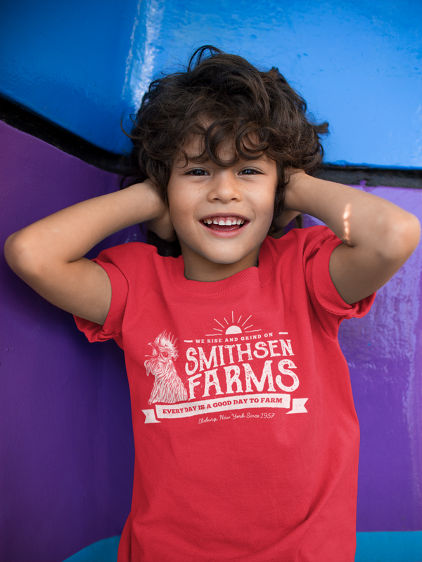 Kids Personalized Farm Shirt Rooster Shirt Farmer Gift Idea Custom Farm T Shirt Chicken Shirts Boy's Girl's Youth-Shirts By Sarah