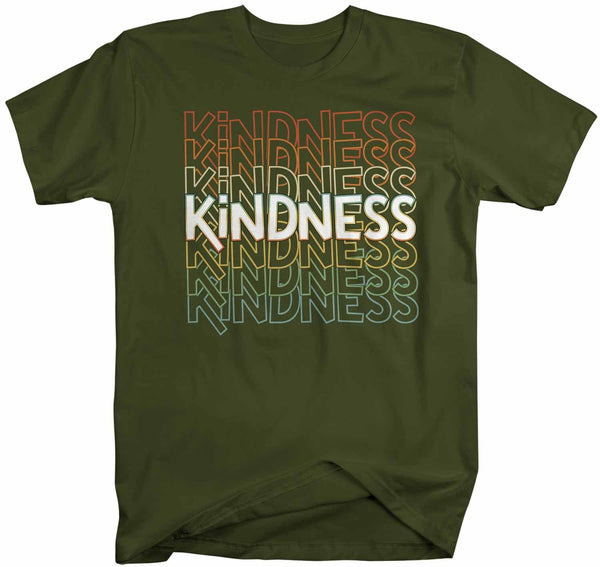 Men's Kindness T Shirt Be Kind Shirts Vintage Kind Shirt Retro Shirts Inspirational Shirts Teacher Shirt-Shirts By Sarah