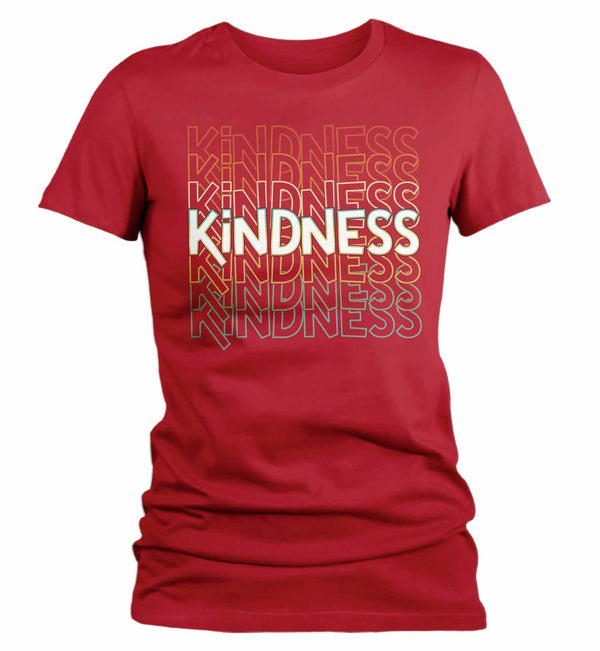 Women's Kindness T Shirt Be Kind Shirts Vintage Kind Shirt Retro Shirts Inspirational Shirts Teacher Shirt-Shirts By Sarah