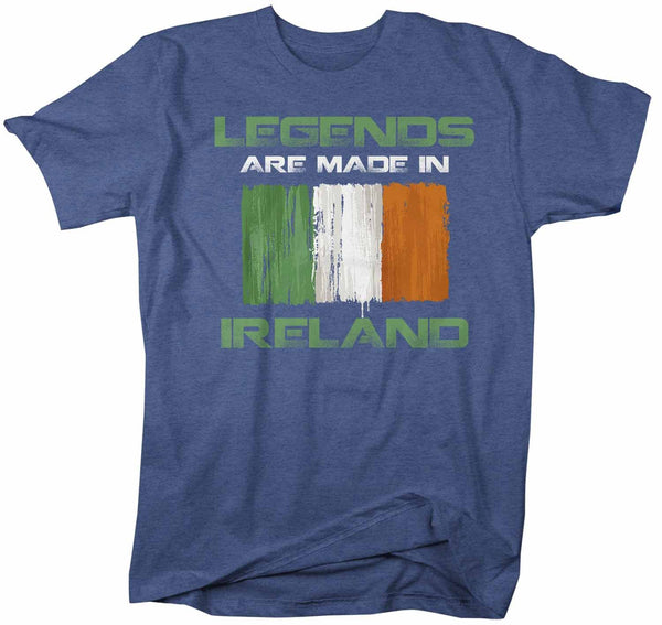 Men's Funny Ireland T Shirt Legends Made In Ireland Shirt Irish Flag Shirt St. Patrick's Day Shirts-Shirts By Sarah