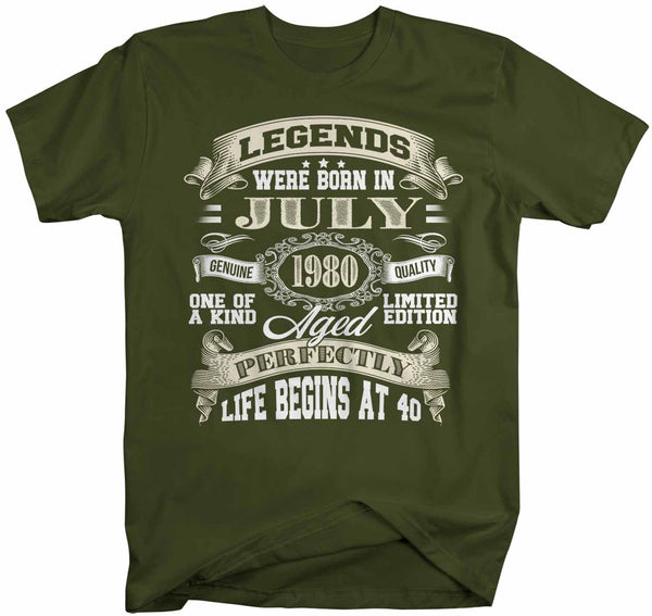 Men's Custom Birthday T Shirt Life Begins At Legend Birthday Shirt 40th Birthday 50th Birthday 30th Birthday 60th Birthday Shirt-Shirts By Sarah