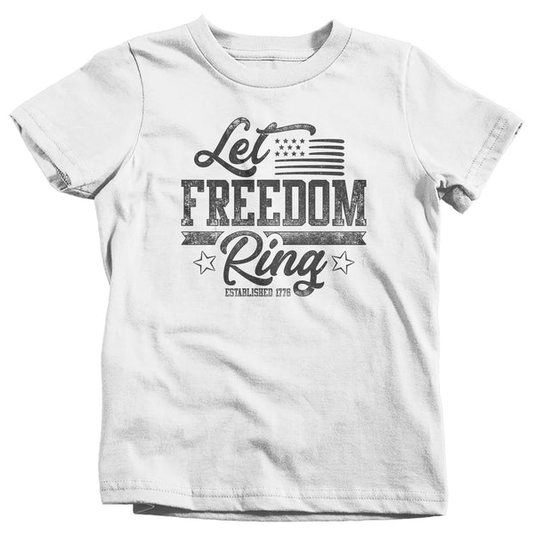 Kids Let Freedom Ring T Shirt Flag Shirt USA Patriotic TShirt Stars Stripes Tee Boys Girls 4th July Gift Idea-Shirts By Sarah