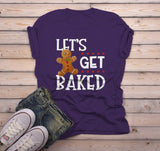 Men's Funny Christmas Shirt Let's Get Baked T Shirt Christmas Cookie Shirts Funny Holiday Graphic Tee-Shirts By Sarah