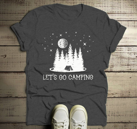 Men S Camping T Shirt Let S Go Camper Shirts Forest Tent Nature
